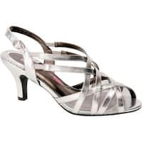Ros Hommerson Women's Lacey Matte Silver PU