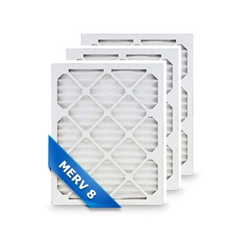 High Quality Pleated Furnace Air Filter 12x20x1 Merv 8 (3-Pack)