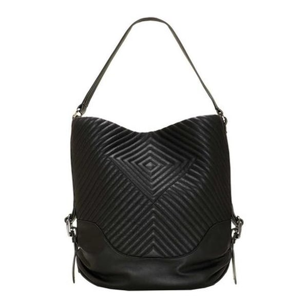 b7f44cc43c7e Shop Vince Camuto Women s Tave Hobo Bag Noir Leather - US Women s One Size  (Size None) - On Sale - Free Shipping Today - Overstock - 25669174
