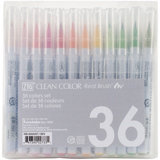Zig Clean Color Real Brush Markers 36/Pkg