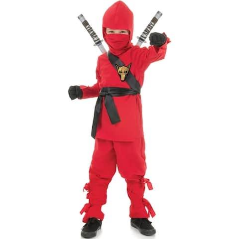 Underwraps Secret Ninja Child Costume (Red) - Red