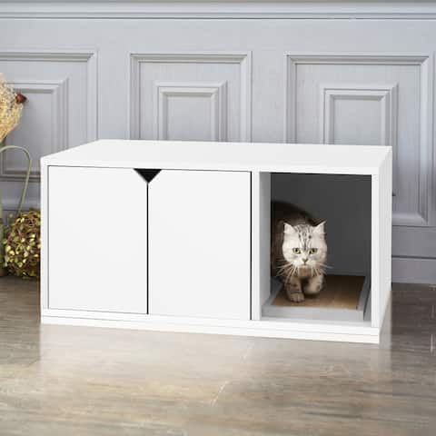 Way Basics Eco Stackable Cat Litter Box, White
