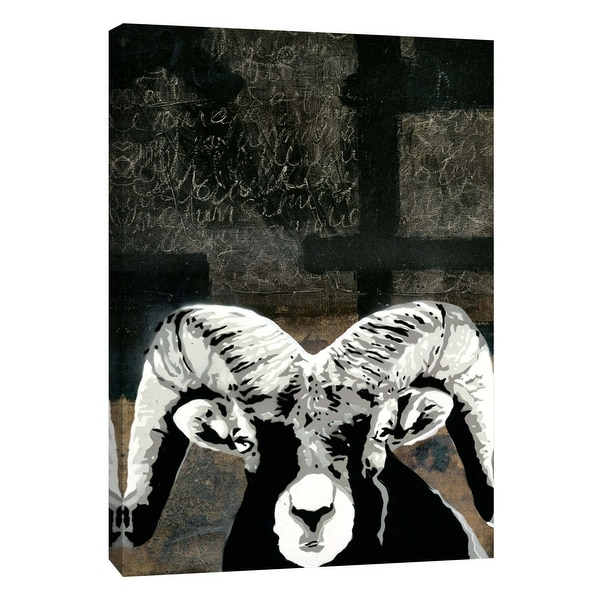 """PTM Images 9-105949 PTM Canvas Collection 10"""" x 8"""" - """"Ram"""" Giclee Sheep Art Print on Canvas"""