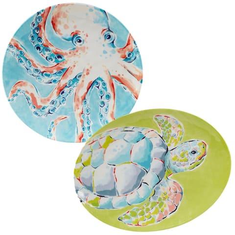 Certified International Deep Sea 2-piece Melamine Platter Serving Set