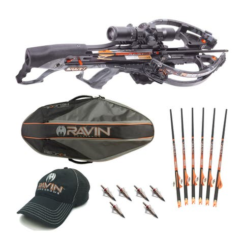 Ravin Crossbows R26 400 FPS Predator Crossbow Package with Case Bundle