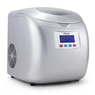 Della Portable High Capacity Household Ice Maker w/LCD Display Yield Up To 26 Pounds of Ice Daily- 3 Cube Sizes -Silver|https://ak1.ostkcdn.com/images/products/is/images/direct/11d6792c65f2f2da47ddf45b5c0c1a9cf5fde705/Della-Portable-High-Capacity-Household-Ice-Maker-w-LCD-Display-Yield-Up-To-26-Pounds-of-Ice-Daily--3-Cube-Sizes--Silver.jpg?impolicy=medium