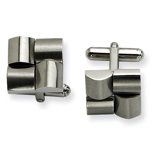 Chisel Stainless Steel Satin Cuff Links