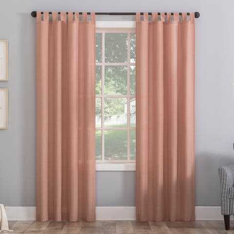 No. 918 Jacob Heathered Texture Semi-Sheer Tab Top Curtain Panel