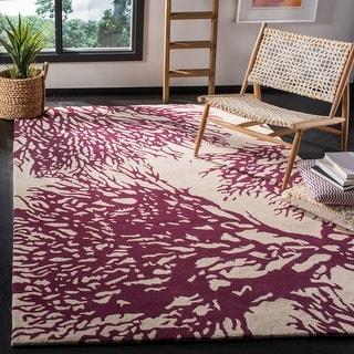 Link to Safavieh Handmade Bella Lular Modern Floral Wool Rug Similar Items in Transitional Rugs