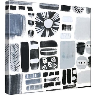 """PTM Images 9-97698  PTM Canvas Collection 12"""" x 12"""" - """"Blackgraywhite"""" Giclee Abstract Art Print on Canvas"""