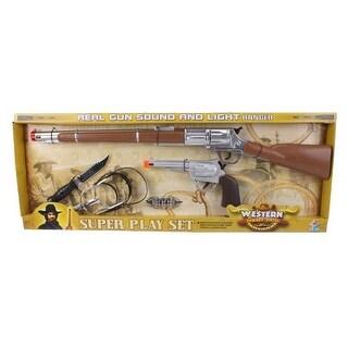 Gift Corral Western Toy Kids Rifle Pistol Set Spurs Knife 87-1554