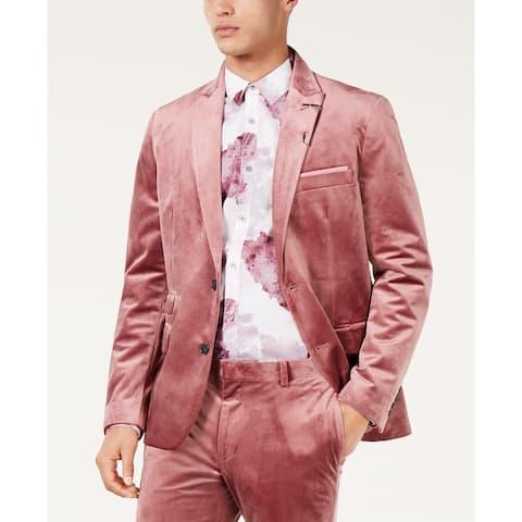 INC International Concepts Men's Slim-Fit Velvet Blazer Pink Size 2 Extra Large