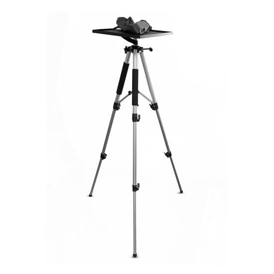 Video Projector Mount Stand, Adjustable Height, Swivel/Rotating Plate, Tripod Style