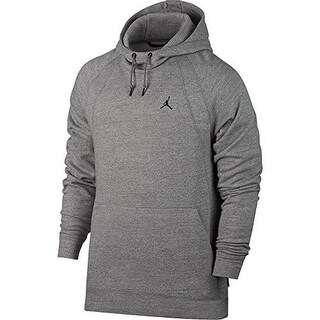 Nike Mens Wings Fleece Po, Dk Grey Heather/Black, 2Xl