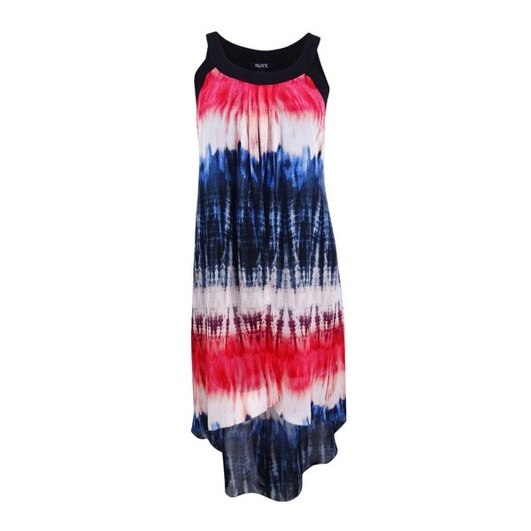 cc8c5b74f859 Shop SL Fashions Women s Tie Dyed Chiffon High-Low Dress (L