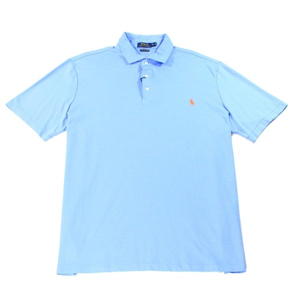 2afa7790b475b Shop Polo Ralph Lauren NEW Blue Mens Size XL Pima Soft Touch Polo Shirt -  Free Shipping Today - Overstock - 19815468