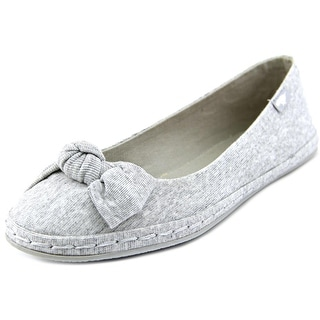 Rocket Dog Whisk Women Round Toe Canvas Gray Flats