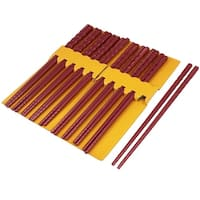 "Unique Bargains 10 Pairs Kitchen Dishware Burgundy Plastic Chopsticks 9.7"" Long"