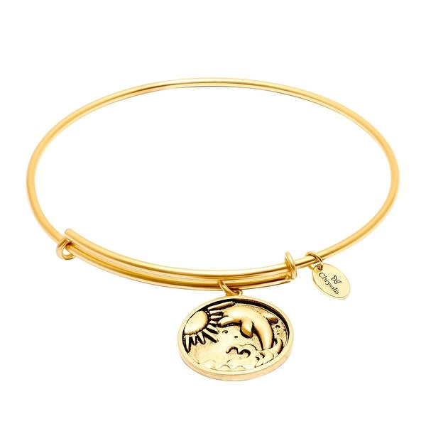 Chrysalis Expandable Dolphin Bangle Bracelet in 14K Gold-Plated Brass - YELLOW