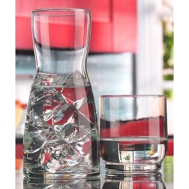 Palais Glassware Carafe set - Bedside Night Carafe 17 Oz with Tumbler Glass 10 Oz