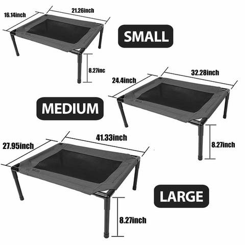 confote Elevated Pet Bed Lounger Sleep Raised Cot