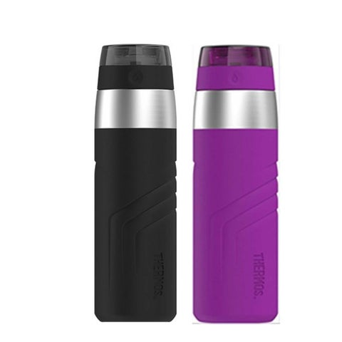 THERMOS 2 20 oz Vacuum Insulated Stainless Steel Sporty Drink Bottle