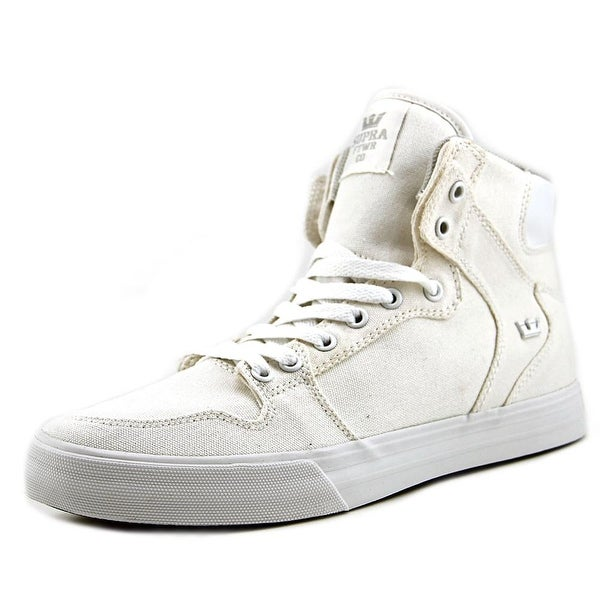 Supra Vaider D Men Round Toe Canvas White Sneakers