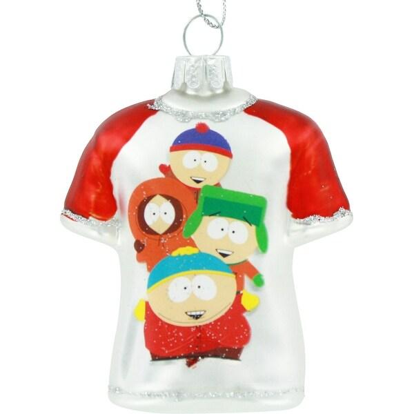 """South Park Cast Glass T-Shirt 3.5 Ornament"""""""