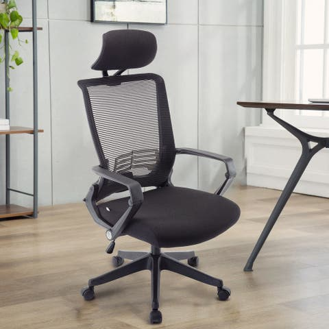 Moda M1903-B-P Durable Ergonomic Executive Chair with Adjustable Headrest