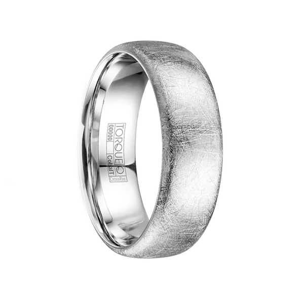 DAXTER Wire Brushed Cobalt Men's Wedding Ring by Crown Ring - 7mm