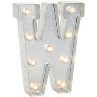 """Silver Metal Marquee Letter 9.875""""-W"""