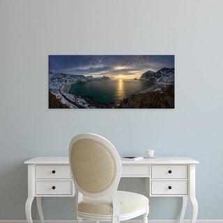 Easy Art Prints Panoramic Images's 'Rhyolite mountains during sunset, Landmannalaugar, Iceland' Premium Canvas Art