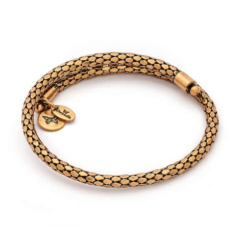 Bohemia Confidence Wrap Bangle For Women, Yellow Gold Plated