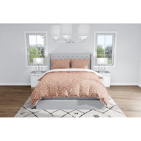 LEOPARD RUST Duvet Cover By Kavka Designs