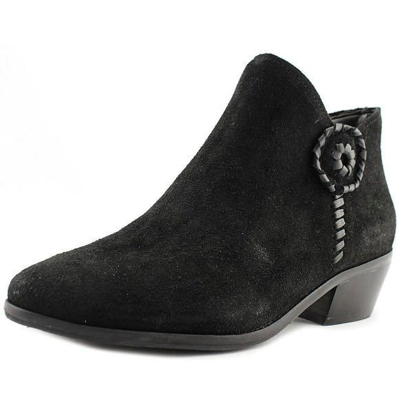 06a7a6855b7 Shop Jack Rogers Peyton Women Round Toe Suede Black Ankle Boot ...