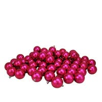 "60ct Pink Magenta Shatterproof Shiny Christmas Ball Ornaments 2.5"" (60mm)"