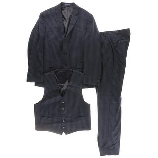 Ryan Seacrest Mens Wool 3PC Two-Button Suit