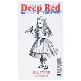 Deep Red Stamps Alice Potion Rubber Cling Stamp - 1.8 x 3.1