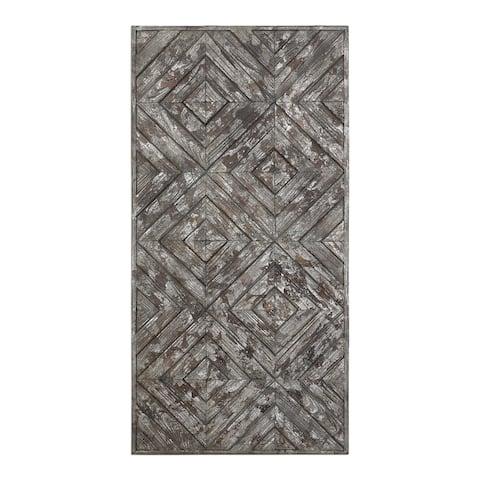 "47.25"" Gray and Black Roland Rectangular Panel"