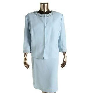 Tahari ASL Womens Benz Embellished 2PC Skirt Suit