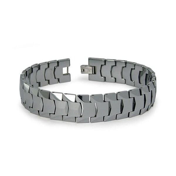 Tungsten Men's Link Bracelet