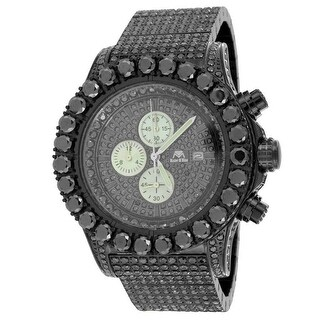 New Master Of Bling Jojino Joe Rodeo 48 MM Lab Black Diamond Watch Mens