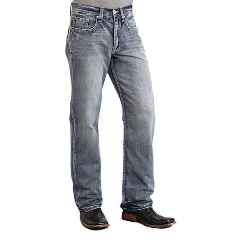 Stetson Western Denim Jeans Mens Light Wash