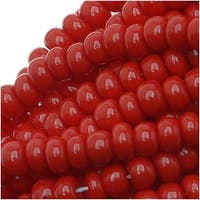 Czech Seed Beads 8/0 Dark Red Opaque (1 Ounce)