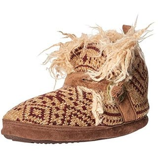 Muk Luks Womens Bootie Slippers Faux Fur Colorblock|https://ak1.ostkcdn.com/images/products/is/images/direct/11e10a879a85c71db5fcb7575f2d772e144345d2/Muk-Luks-Womens-Bootie-Slippers-Faux-Fur-Colorblock.jpg?impolicy=medium
