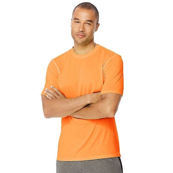 a8ce38a7 Shop Hanes Sport™ Men's Heathered Training Tee - Color - Glazed Orange  Heather - Size - XL - Free Shipping On Orders Over $45 - Overstock -  24098057