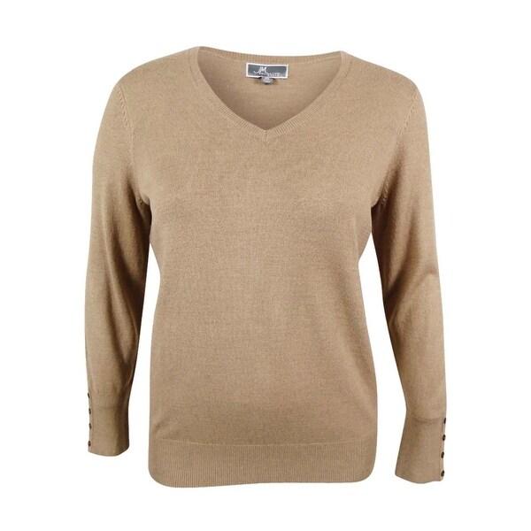 Shop Jm Collection Women S Plus Size V Neck Sweater Free