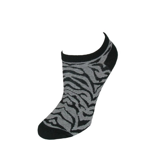 K. Bell Women's Animal Print No Show Ankle Socks (Pack of 6)