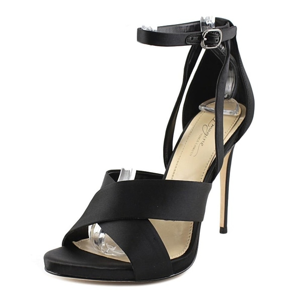 Imagine Vince Camuto Dairren Women Open Toe Canvas Black Sandals