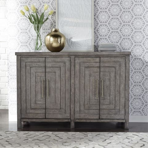 The Gray Barn Hammond Mill Farmhouse Dusty Charcoal 2-drawer Buffet